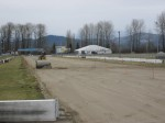 Looking towards drag strip start line, March 1 2014 - VRCBC photo