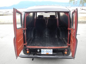 The ultimate Vintage delivery van! 1955 Austin A55 Panel Van - rear view. - R. Zbarsky photo