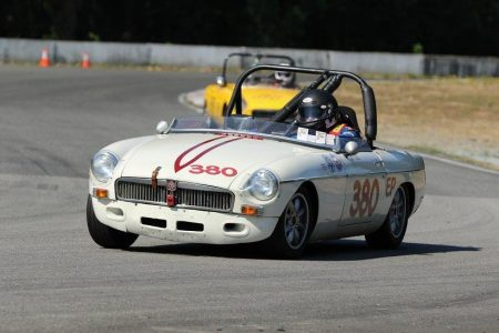 Pierce Isaacs has already entered the Team OGRE (aka: 'Old Guys Racing Enterprises') 1966 MGB for the Vintage races during the SCCBC's Tony Morris Memorial Weekend. - Brent Martin photo