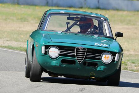 Newly - elected CACC Vintage Discipline Director Roger van der Marel aims his 1967 Alfa Romeo GTV towards the 2016 race season at the Mission Raceway Park Road Course. - Brent Martin photo