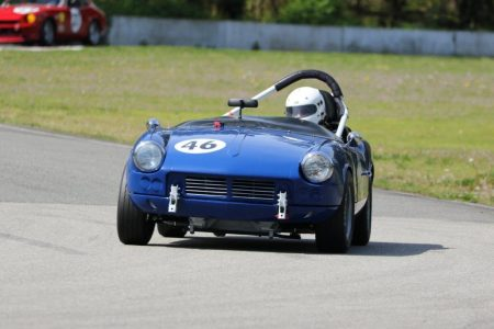 Phil Pidcock brought out his beautifully prepared 1965 Triumph Spitfire for its first race weekend. He quickly got down to some very competitive times before being sidelined by drive line gremlins. Next time Phil! - Brent Martin photo