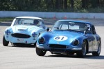 Two VRCBC veteran racers battle it out; Evan Williams (TVR Grantura) and Ivan Lessner (Austin Healey 100-6) - Brent Martin photo