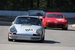 David Hogg (Porsche 911) leads Mike Hawthorne (Porsche 944) and Ian Wood (Volvo 142S)  - Brent Martin photo