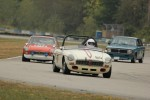 Al Reid (MGB), Ralph Zbarsky (MGB GT) and Mike Zbarsky (Volvo 142S) - Brent Martin photo