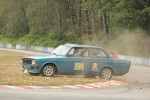 Mike Zbarsky's Volvo 142S demonstrates its Shell 4000 Rally heritage in Turn 2 - Brent Martin photo