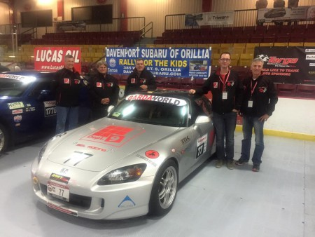 Ready to go!! The BEL Racing Team with their Honda S2000 in St. John's. L to R: Len Swanson, Alan McColl, Brad Law, Chris Lewoniuk and Doug Floer. - BEL Racing photo