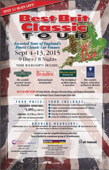Best Brit Classic Tour 2015 - Poster