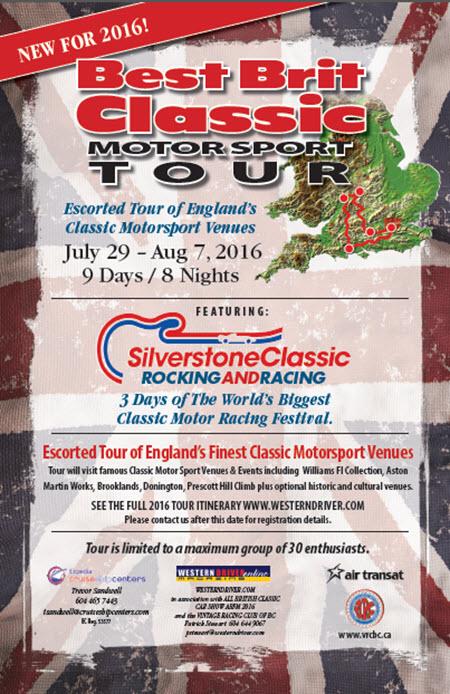 Best Brit Classic Tour 2016 - Poster
