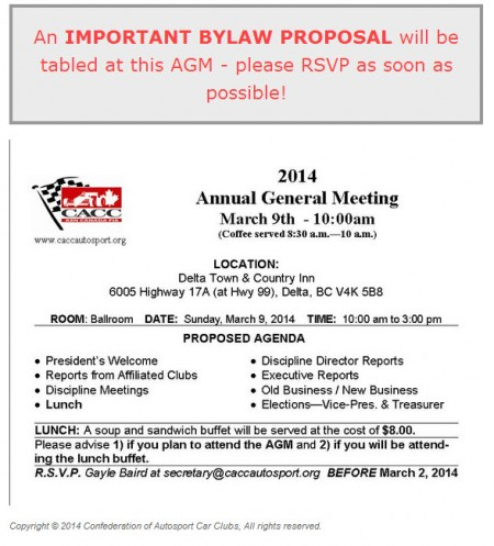 CACC AGM March 2014 - Notice Reminder