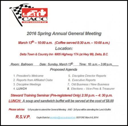 CACC Spring 2016 AGM Notice