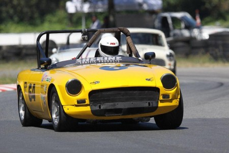 Al Harvey's MGB at Mission Raceway - Paul Bonner photo
