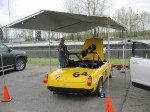 VRCBC Competition Director Al Harvey and his MGB 'Bee'. - VRCBC photo