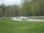 The leaders enter Turn 2 in the season's first race. - VRCBC photo