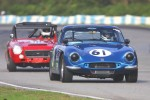 Nancy Moore (TVR Grantura) leads Joe Deagle (Datsun 2000) - Paul Bonner photo