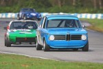 Leigh Anderson (BMW 1600) leads Bernie Hamm (Fiat X/1-9) into Turn 2 - Paul Bonner photo