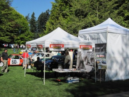 The VRCBC booth set up at the 2012 All British Field Meet - VRCBC photo