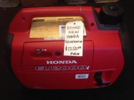 Brand new Honda EU 2000i portable generator