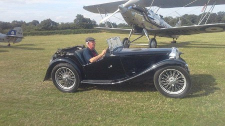 A classic English moment at the Shuttleworth Collection's 'Best of British Airshow' captured by Linda and Manny Zumm