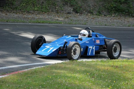Ken Butler clips the apex in his 1970 Perf-Fab Formula Vee - Brent Martin photo