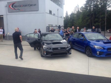 The scramble begins! It was time to grab a seat for a few exploratory laps of the brand new Vancouver Island Motorsport Circuit. - VRCBC photo