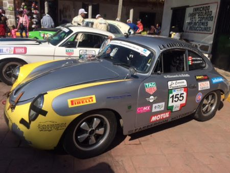 Karlo Flores' 1960 Porsche 356-B is proudly carrying our VRCBC decals in this year's La Carrera Panamericana. - K. Flores photo