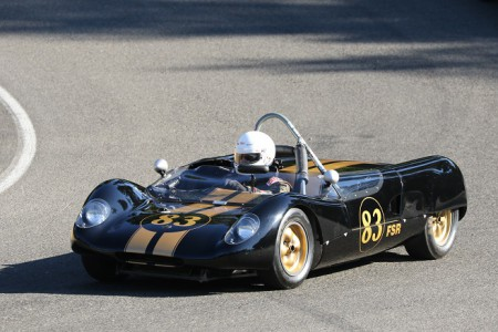 The VRCBC's own Steve Clark in his 1963 Lotus 23B sports racer. - Brent Martin photo