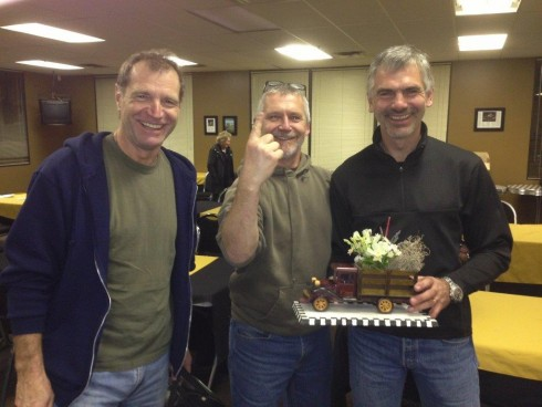 """We're Number One!!""; The Winning Team of (L to R) Gunter Pichler, Phil Roney and Greg Campbell. - Ian Wood photo"